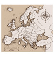 map europe vector image