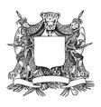 medieval vintage heraldry flourishing decoration vector image vector image