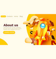 modern banner template with tiny people and rocket vector image vector image