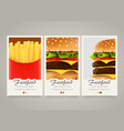 Modern colorful vertical fastfood banners food