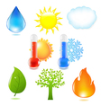 Nature Eco Set vector image vector image