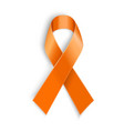 orange ribbon on white background vector image