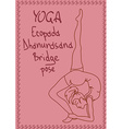 Outline girl in Bridge yoga pose vector image