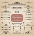 page dividers and ornate headpieces vector image