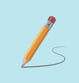 pencil draws a contour vector image vector image