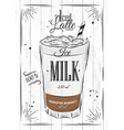 Poster iced latte vector image