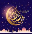 ramadan kareem moon vector image vector image