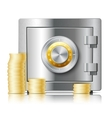 Realistic steel safe icon security concept vector image vector image