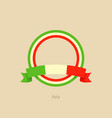 ribbon and circle with flag of italy vector image