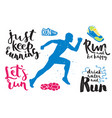 running marathon logo jogging emblems label and vector image vector image