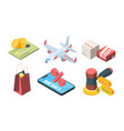 sale goods in online store isometric set vector image vector image