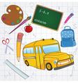 school design elements vector image
