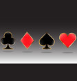 set game cards with golden outline for playing vector image