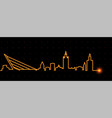seville light streak skyline vector image