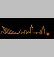 seville light streak skyline vector image vector image