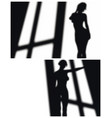 shadow compositions vector image vector image
