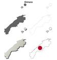 Shimane blank outline map set vector image vector image