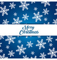 snowflakes background to celebrate merry christmas vector image vector image