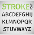stroke font vector image vector image