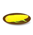 the cob corn on the plate vector image