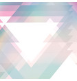 triangles background color vector image vector image