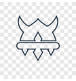 viking helmet concept linear icon isolated on vector image