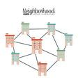 welcome neighborhood vector image vector image