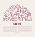 wine bar concept for restaurant menu vector image vector image