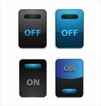 On Off Switch Button vector image