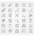 Sport line icons vector image