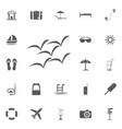 birds simple icon summer set vector image