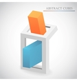 abstract cube vector image vector image