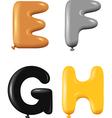 Alphabet letters E F G H vector image