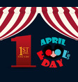 april fools day lettering design vector image vector image