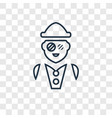 archeologist concept linear icon isolated on vector image vector image