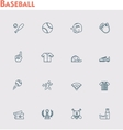 baseball icon set vector image vector image