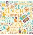 Beach seamless tile vector image vector image