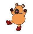 bear christmas cartoon vector image