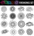 Beautiful Fireworks on white background vector image vector image