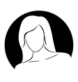 beautiful woman emblem isolated icon design vector image
