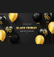 black friday background with black and gold vector image vector image