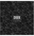 black triangle pattern dark background imag vector image