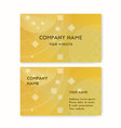 business card yellow travel agency vector image