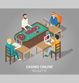 casino online roulette game vector image