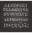 Chalk on blackboard style alphabet