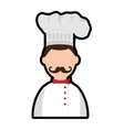 Chef icon Menu and kitchen design graphic vector image vector image