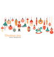 christmas time flat banner template xmas vector image vector image
