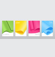 colourful paper sheets brochure templates vector image