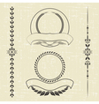 contour decorative ornaments vector image vector image