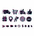 delivery icons set shipping service signs vector image